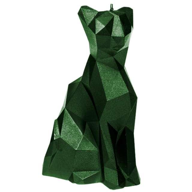 "Świeca ""Kot"", zielony metalik, Candellana"
