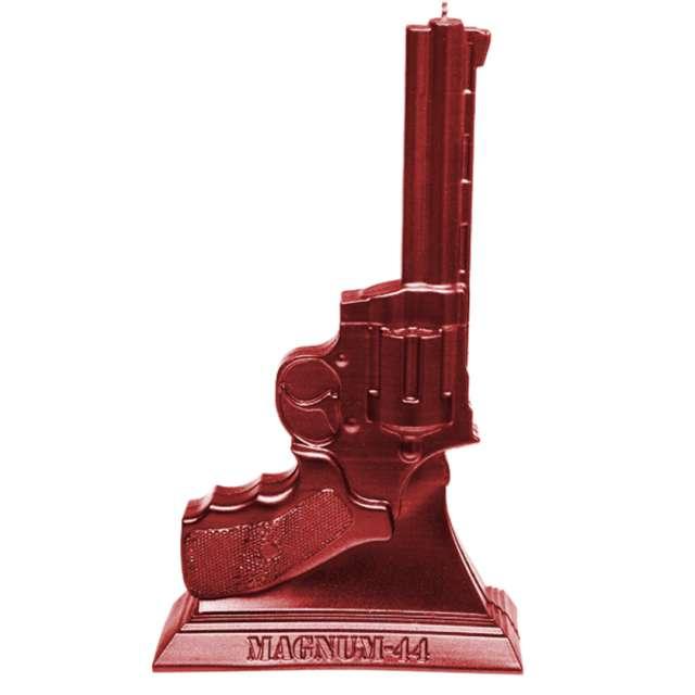 """Świeca """"Magnum 44"""", czerwony metalik, Candellana"""