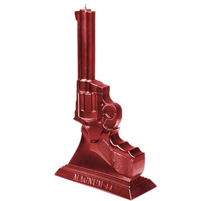 Świeca Magnum 44 czerwony metalik Candellana