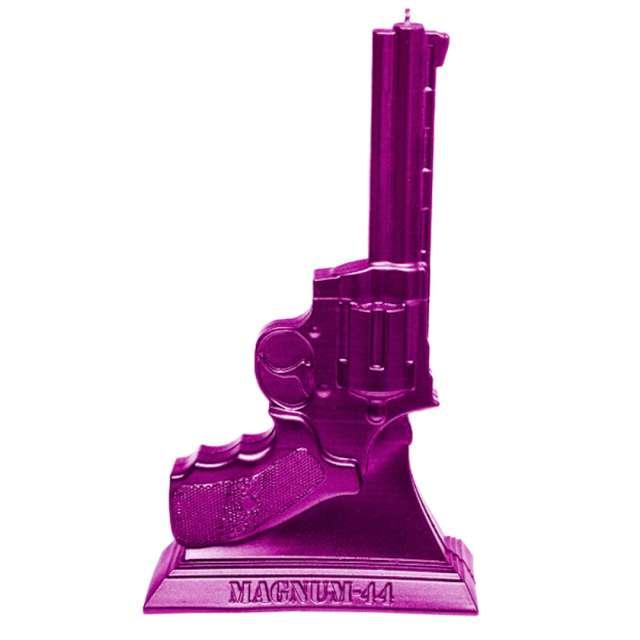"Świeca ""Magnum 44"", różowy metalik, Candellana"
