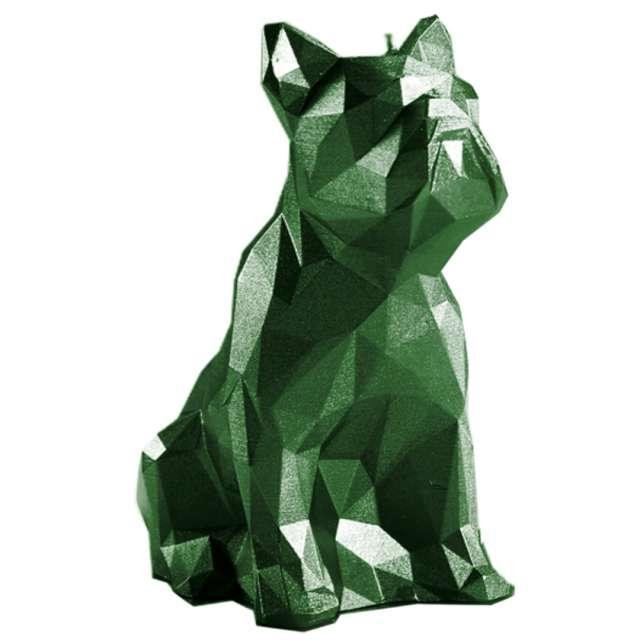 """Świeca """"Buldog"""", zielony metalik, Candellana"""