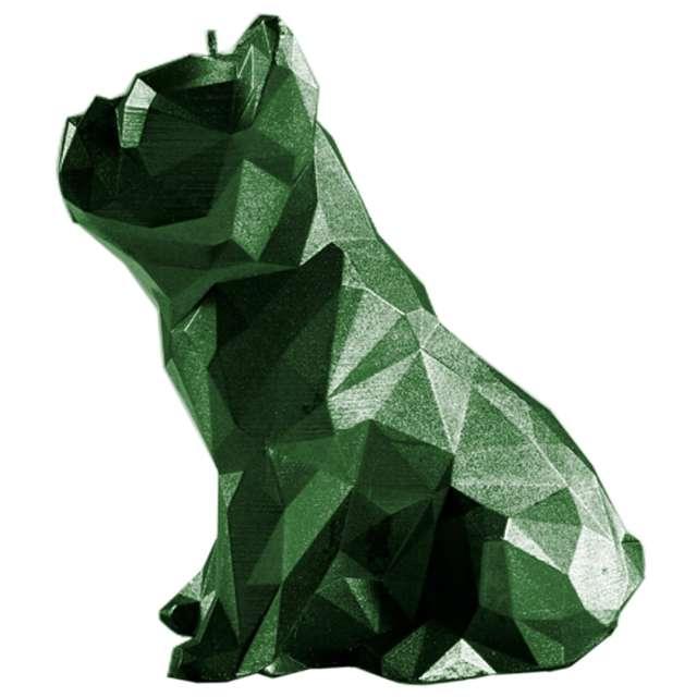 Świeca Buldog zielony metalik Candellana