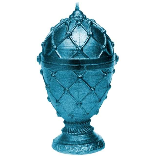 """Świeca """"Jajo Faberge"""", niebieska, Candellana"""