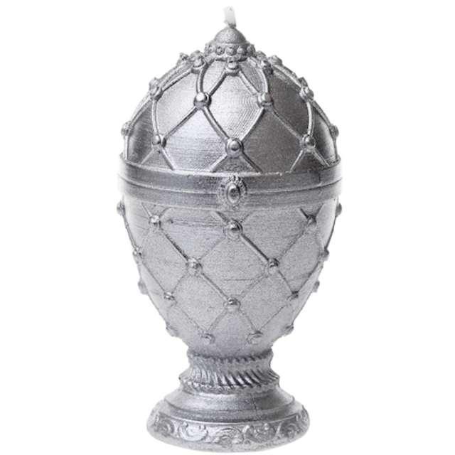 """Świeca """"Jajo Faberge"""", srebrna, Candellana"""