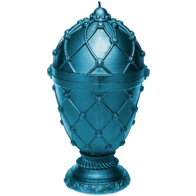 """Świeca """"Jajo Faberge XXL"""", niebieska, Candellana"""