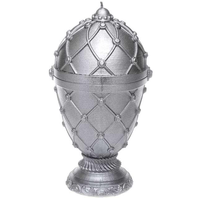 Świeca Jajo Faberge XXL srebrna Candellana