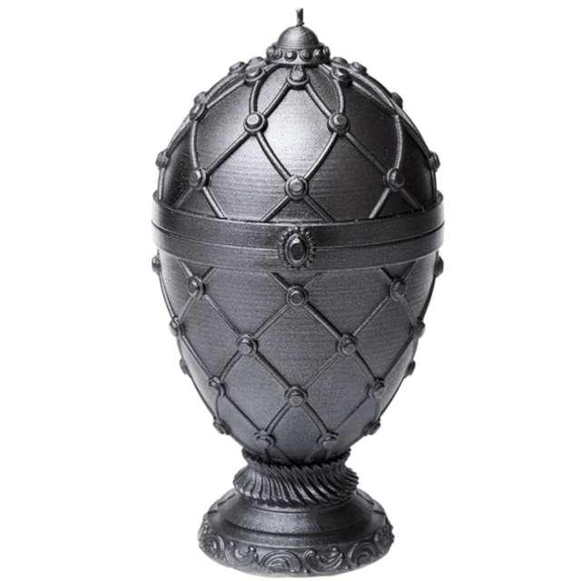 Świeca Jajo Faberge XXL stalowy Candellana