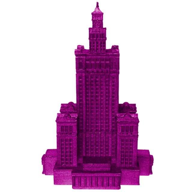 Świeca Pałac Kultury XXL różowy metalik Candellana