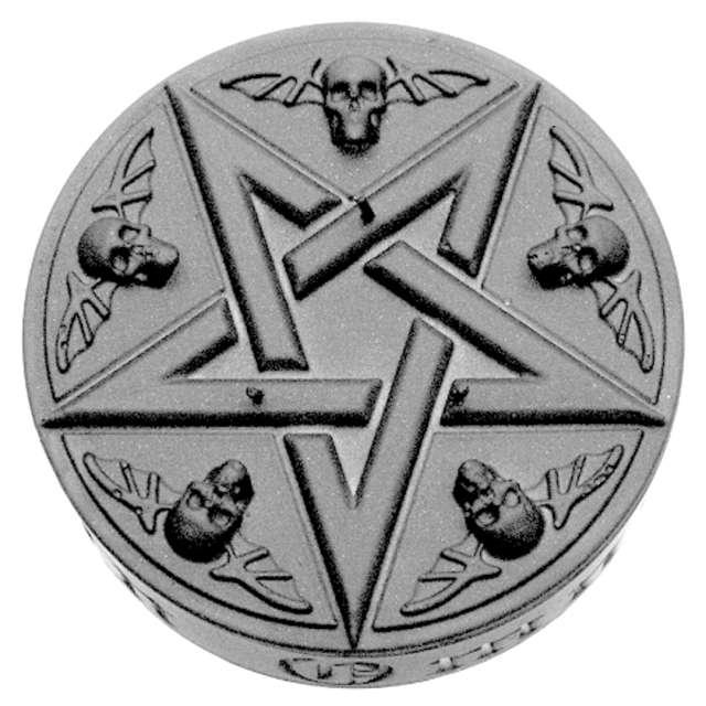 Świeca Pentagram XL stalowy metalik Candellana