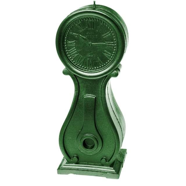 "Świeca ""Zegar vintage XXL"", zielony metalik, Candellana"