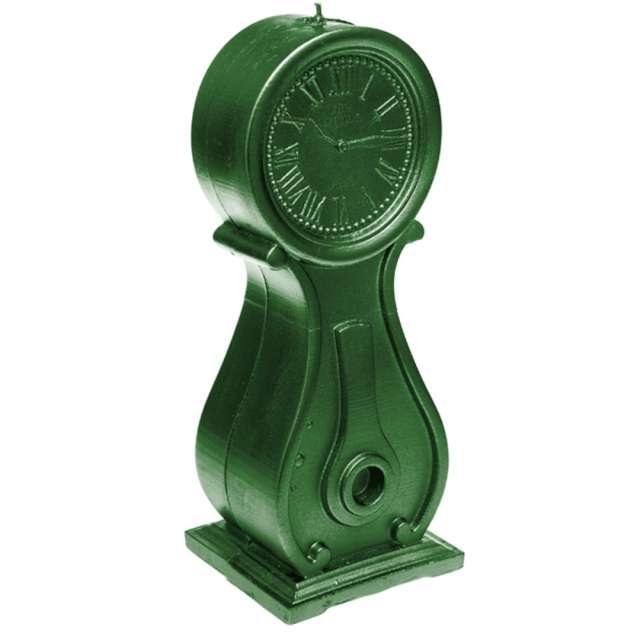 Świeca Zegar vintage XXL zielony metalik Candellana