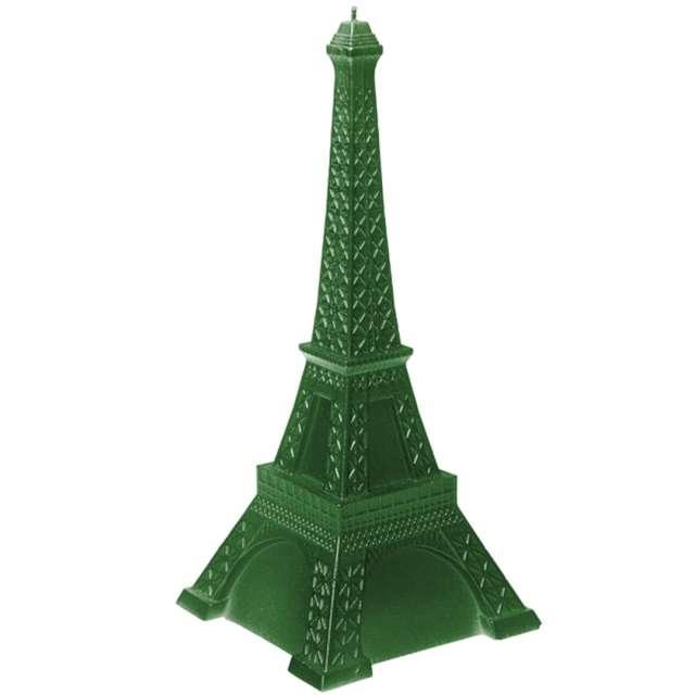 """Świeca """"Wieża Eiffla XXL"""", zielony metalik, Candellana"""