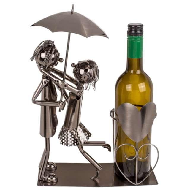_xx_Metalowy stojak na wino - zakochana para IV