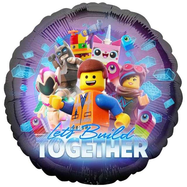 """Balon foliowy """"Lego Movie 2"""", Amscan, 18"""", RND"""