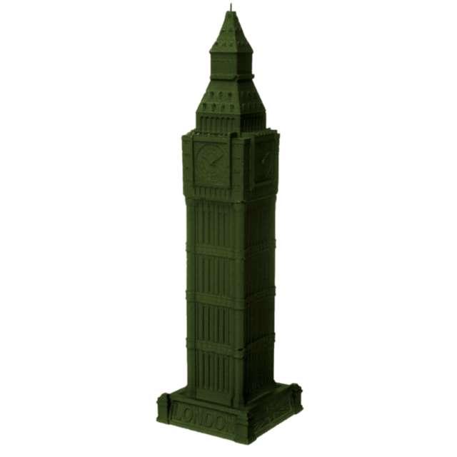 Świeca Big Ben XXL ciemna zieleń perłowa Candellana