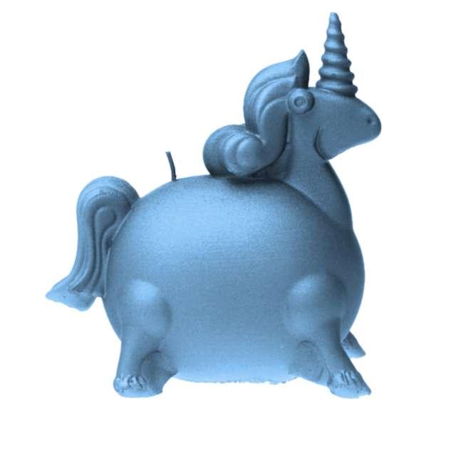 Świeca Jednorożec błękit perłowy Candellana