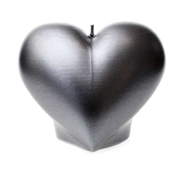 "Świeca ""Serce"", stalowa perła, Candellana"