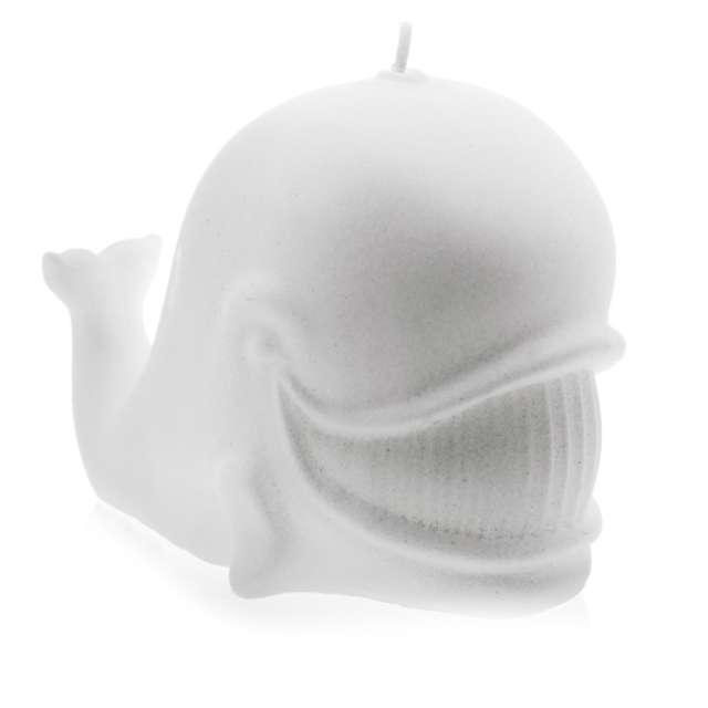 """Świeca """"Wieloryb"""", biała perła, Candellana"""