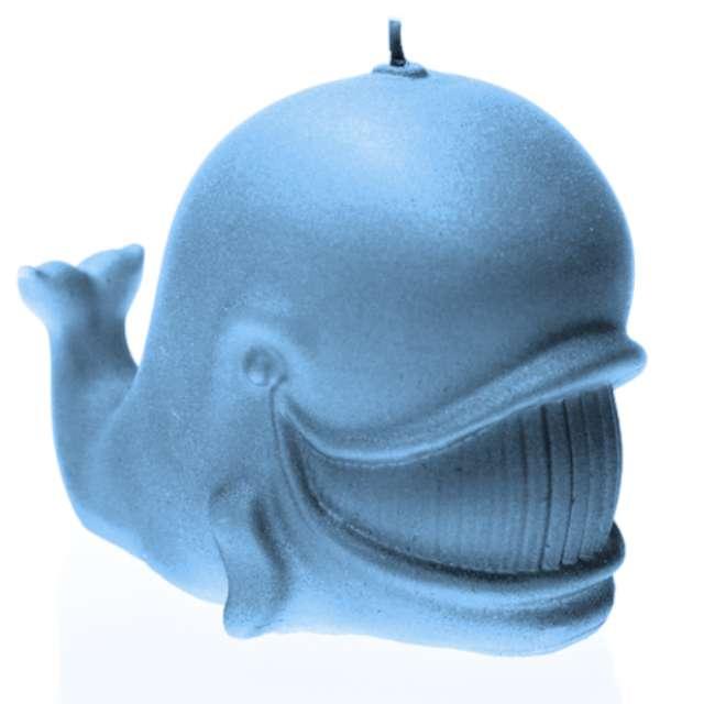 """Świeca """"Wieloryb"""", błękit berłowy, Candellana"""