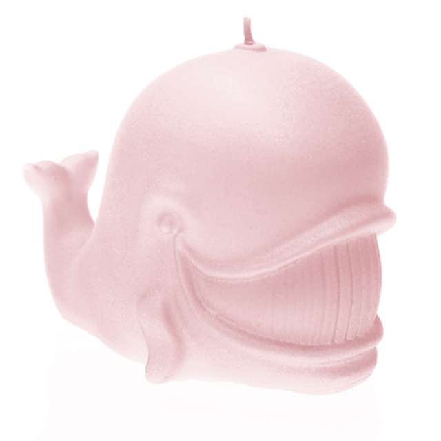 """Świeca """"Wieloryb"""", jasny róż perłowy, Candellana"""