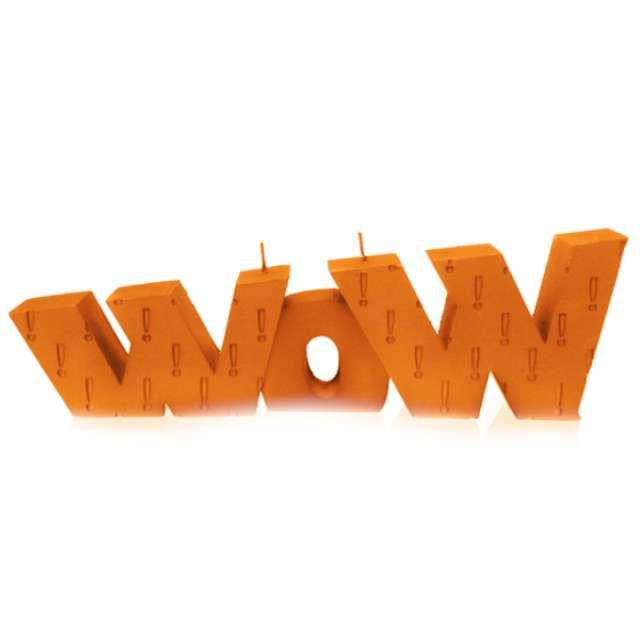 """Świeca """"WOW XXL"""", pomarańczowa perła, Candellana"""