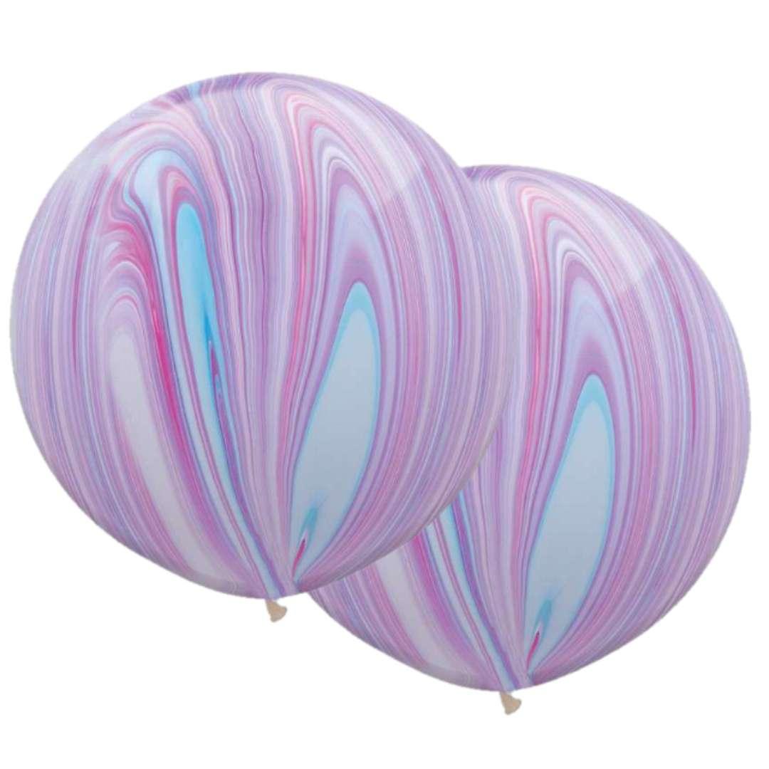 Balon Marmurowe fioletowe Qualatex 30 2szt