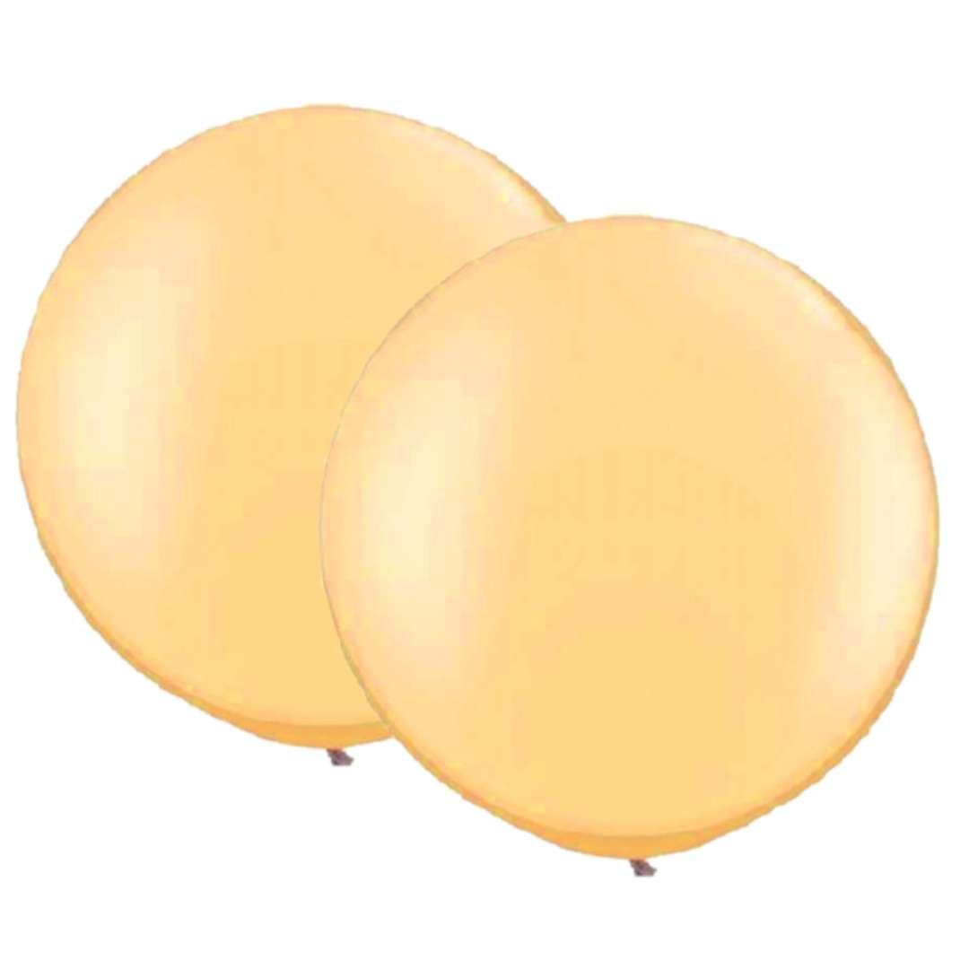 Balon Classic Round złote Qualatex 30 2 szt