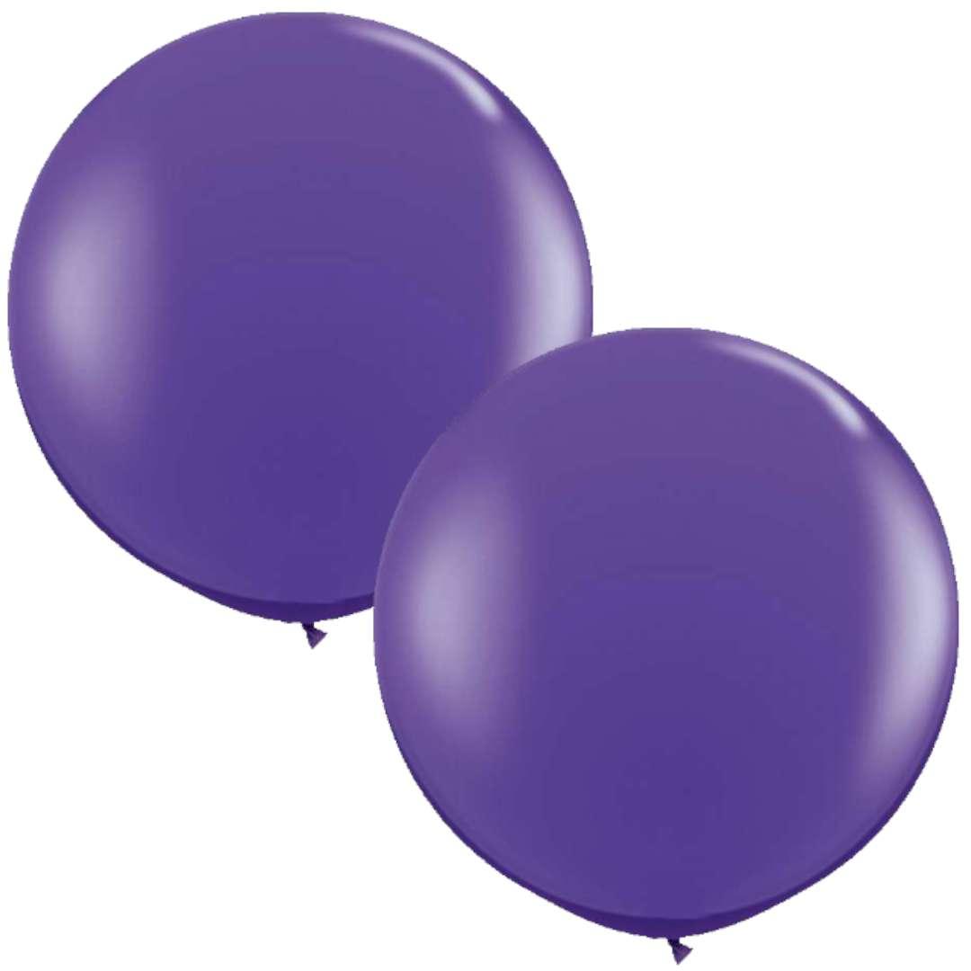 Balony Okrągłe fioletowe Qualatex 36 2szt