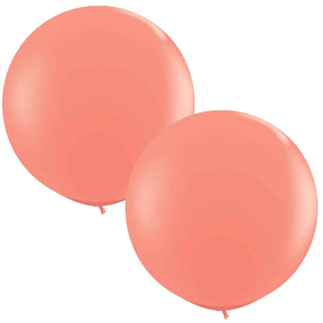 Balony Okrągłe koralowe Qualatex 36 2szt