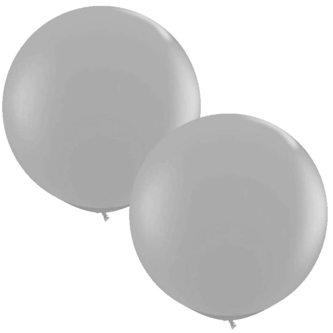 Balony Okrągłe szare Qualatex 36 2szt