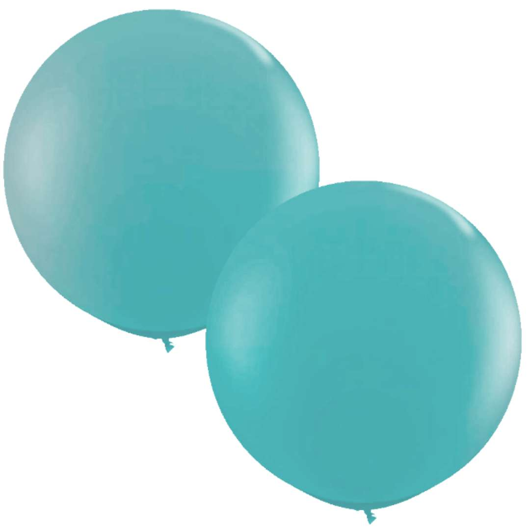 Balon Classic Round turkusowy Qualatex 36 2szt