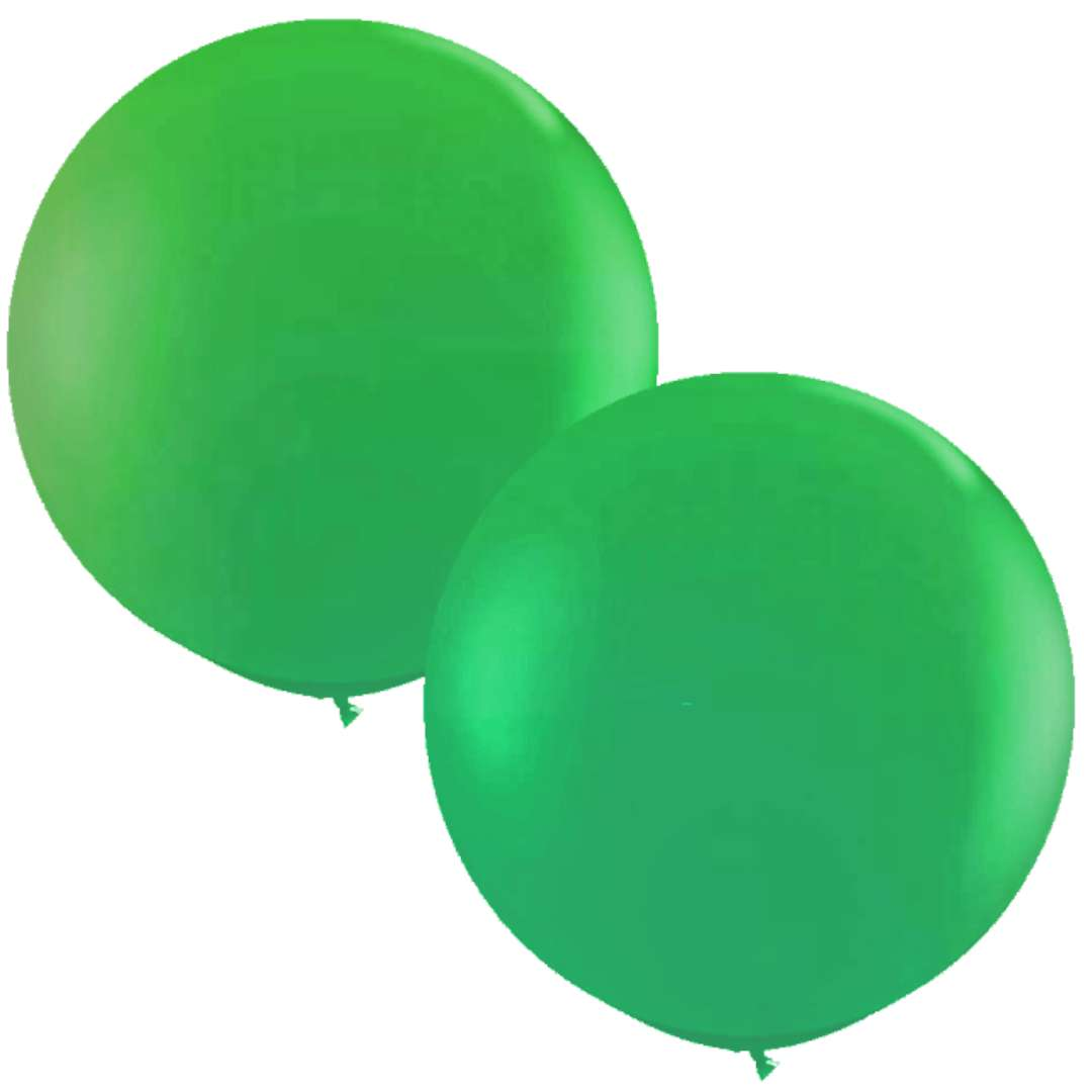 """Balony """"Okrągłe"""", zielony, Qualatex, 36"""", 2 szt"""