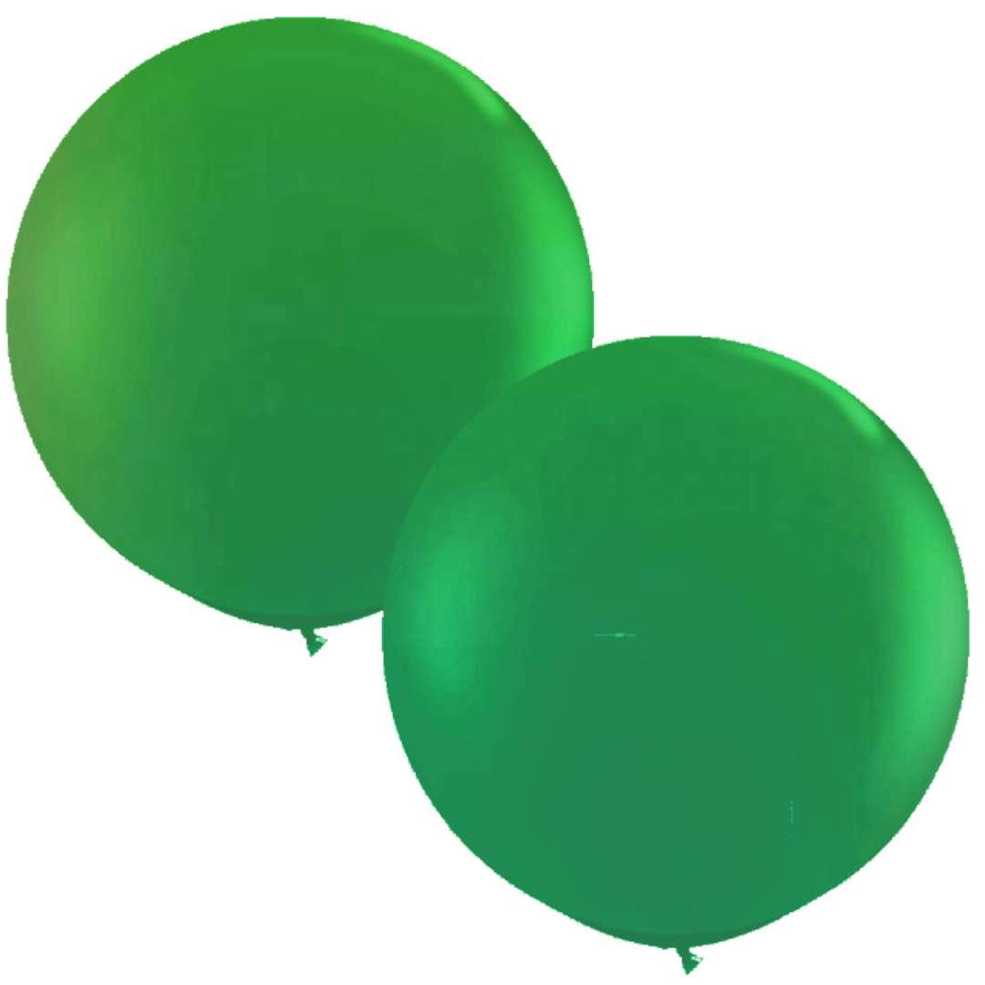 """Balony """"Okrągłe"""", zielony ciemny, Qualatex, 36"""", 2 szt"""
