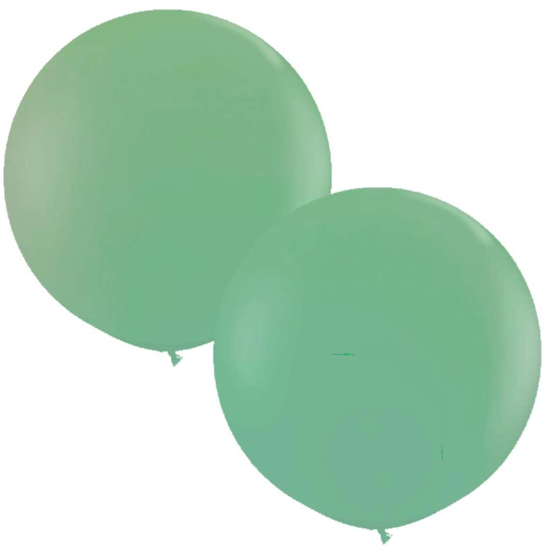 Balon Classic Round zielony Qualatex 36 2szt
