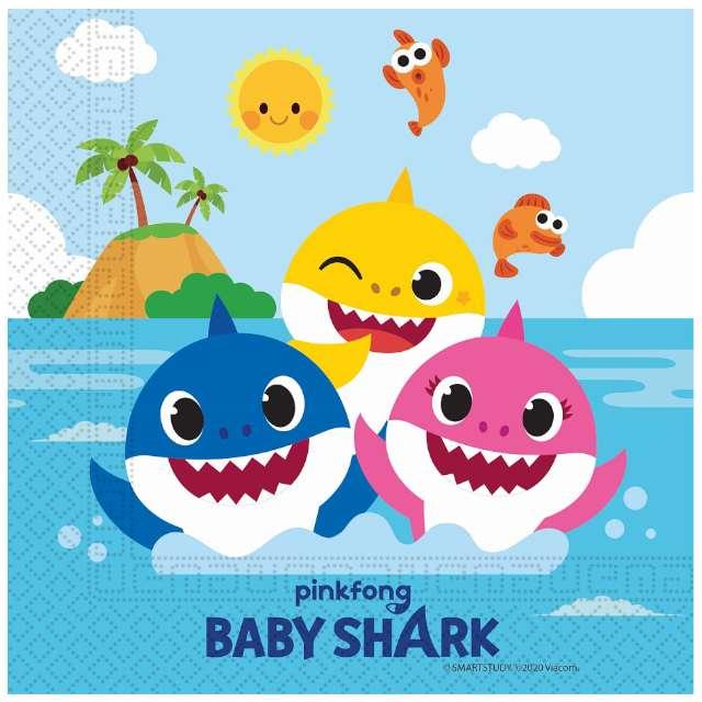 "Serwetki ""Baby Shark"", Procos, 33 cm, 20 szt"