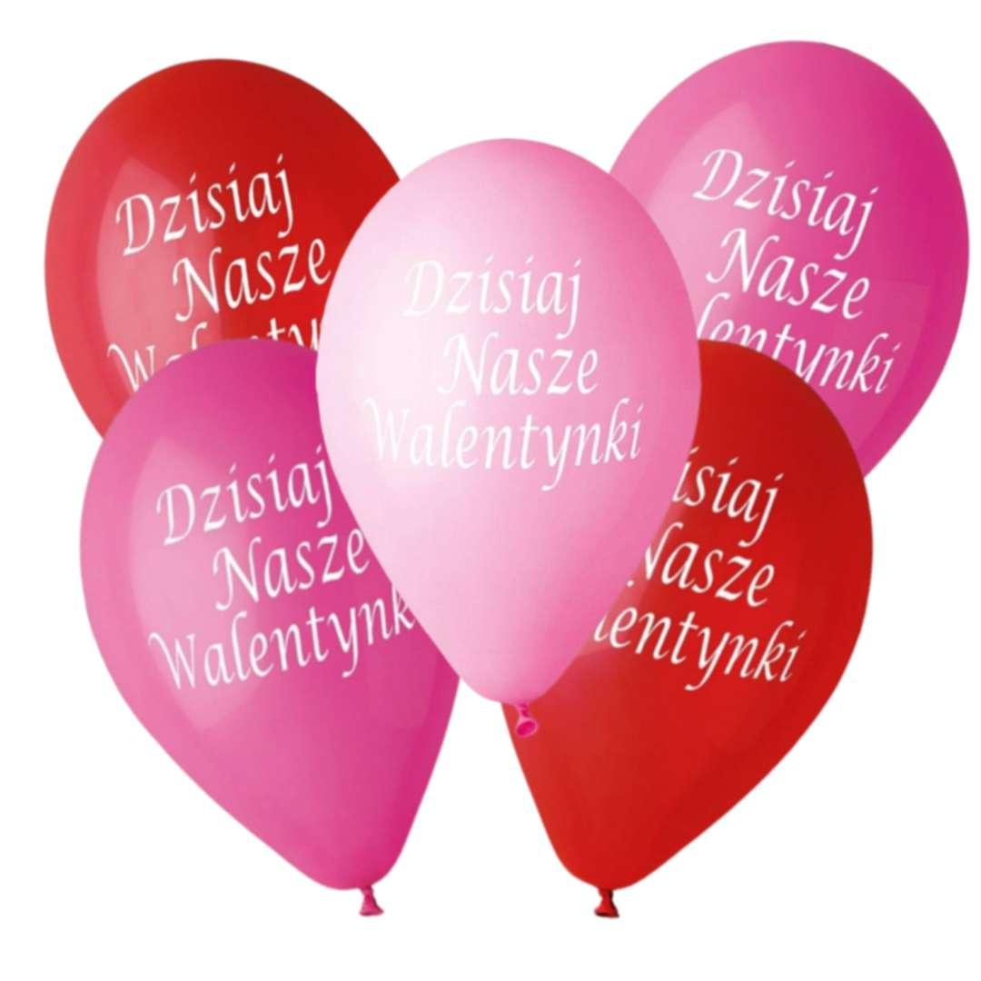 Balony Premium Dzisiaj Nasze Walentynki Gemar 12 5szt.