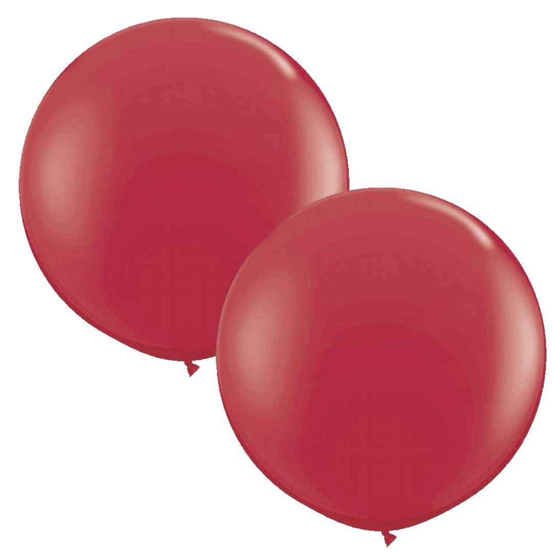 Balon Classic Round bordowy kasztanowy Qualatex 36 2szt