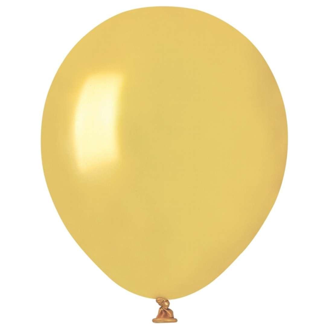 """Balony """"Classic"""", złoty metalik, Gremar, 5"""", 100 szt."""