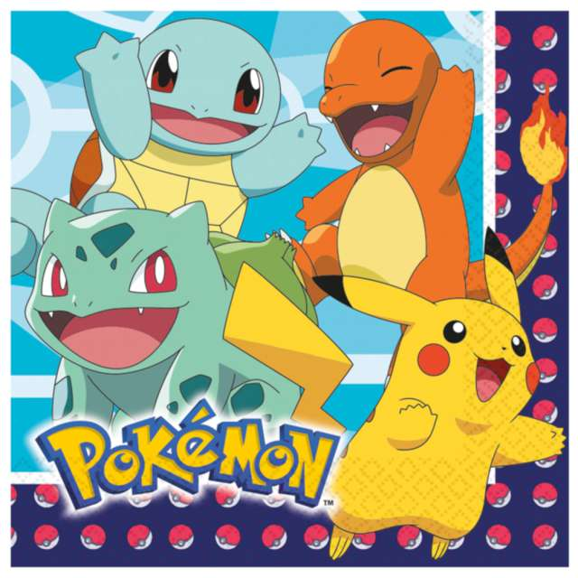 _xx_16 Napkins Pokemon 33 x 33 cm