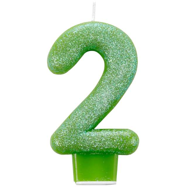 _xx_Number Candle 2 Glitter 7.6cm
