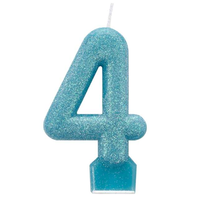 _xx_Number Candle 4 Glitter 7.6cm