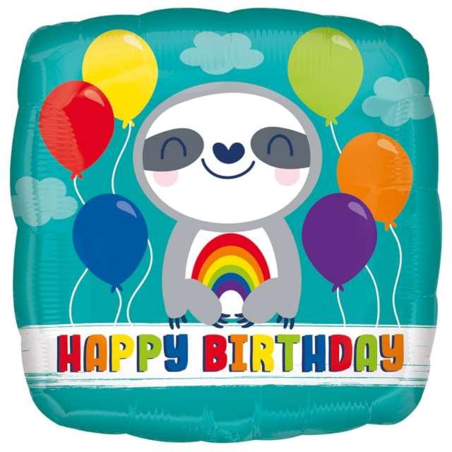 Balon foliowy Urodzinowy Leniwiec Amscan 18 SQR