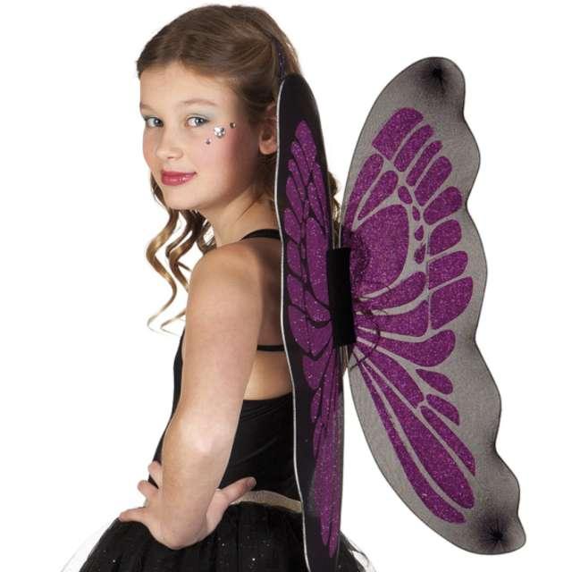 """Skrzydła """"Wróżka"""", fioletowo-czarne, Boland, 55 x 45 cm"""