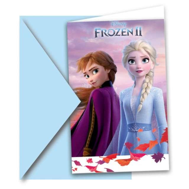 Zaproszenia urodzinowe Kraina Lodu 2- Frozen Procos 6 szt