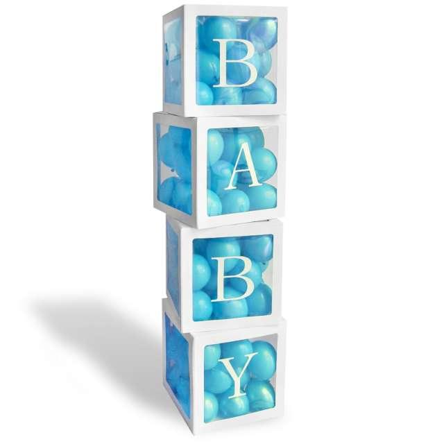 Pudełka na balony Baby białe Godan 4 szt