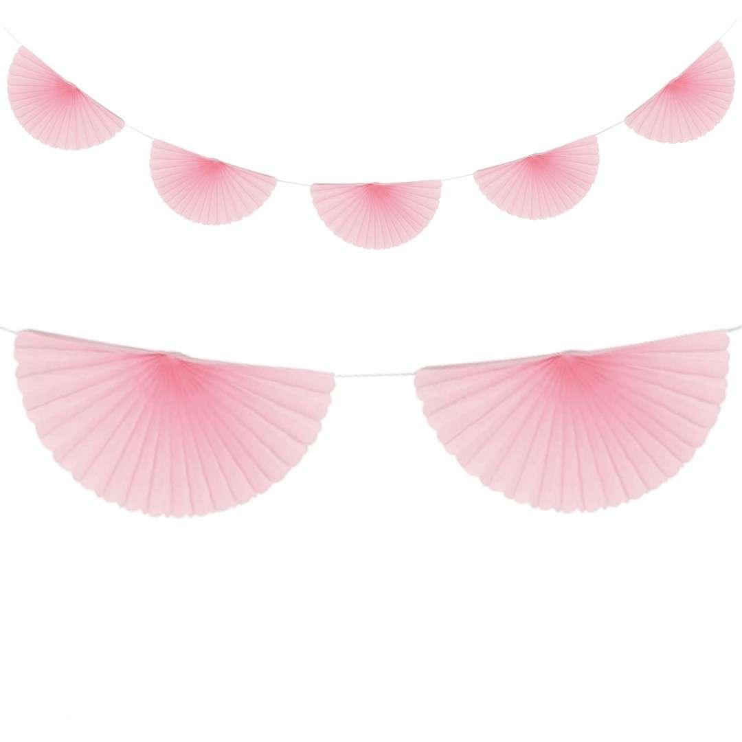 """Girlanda bibułowa """"Rozety"""", różowa, Godan, 300 cm"""