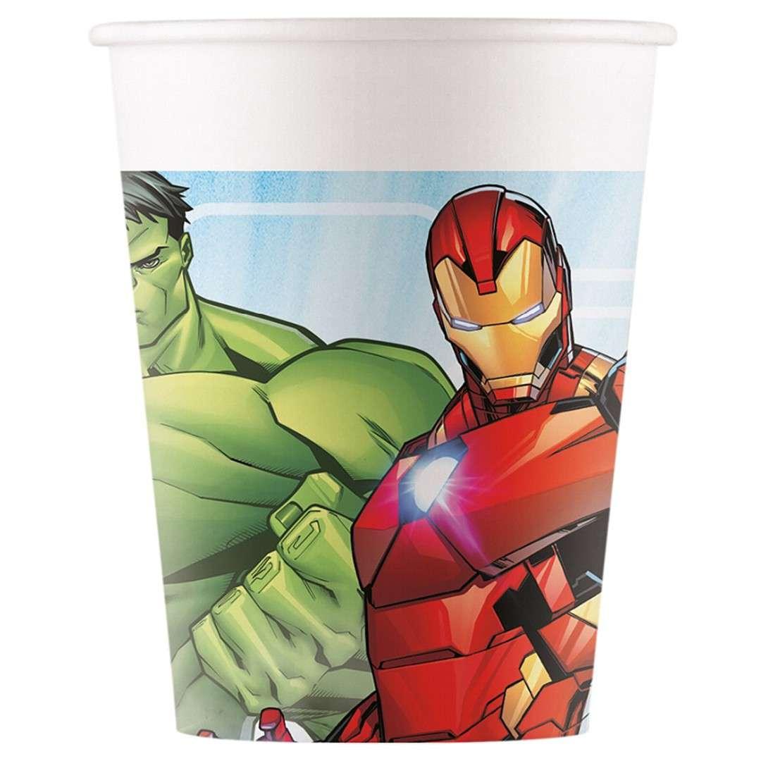 """Kubeczki papierowe """"Mighty Avengers"""", Procos, 200 ml, 8 szt"""