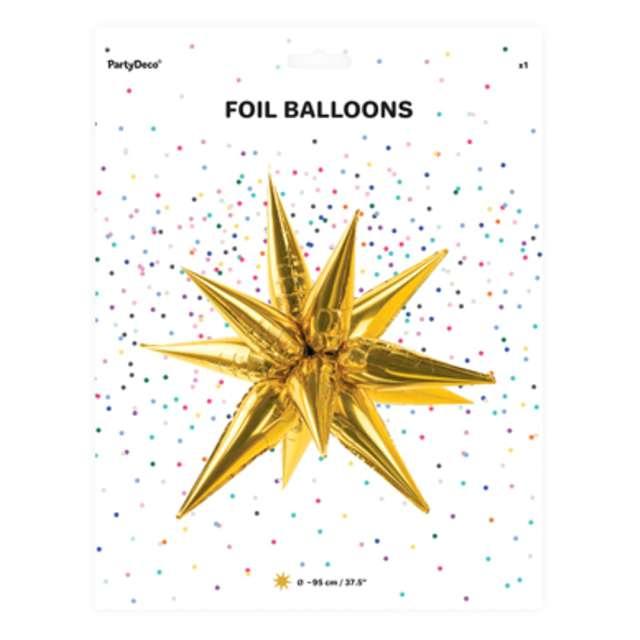 Balon foliowy Gwiazda 3D złoty PartyDeco 37 STR