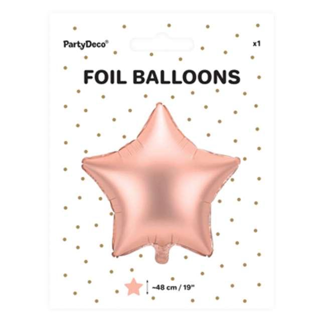 Balon foliowy Gwiazdka różowe złoto satynowy 19 STR