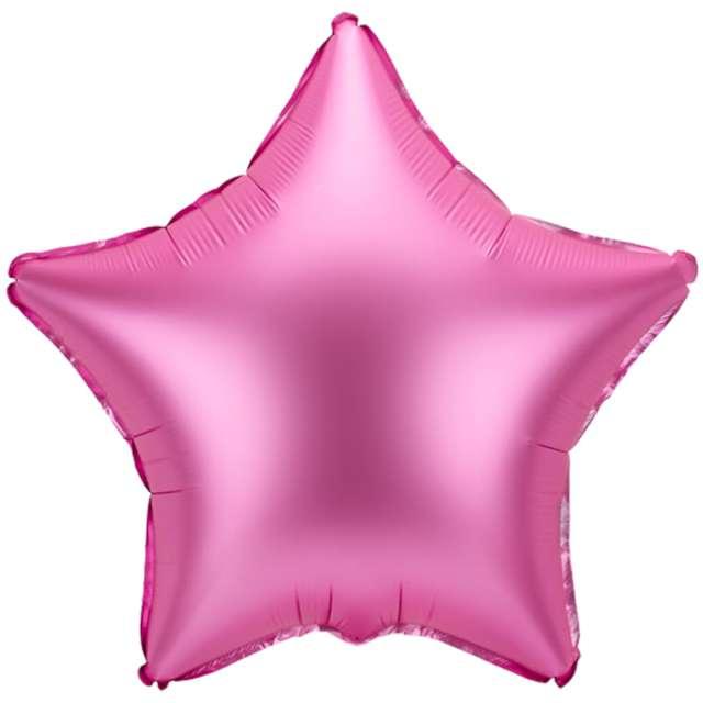 """Balon foliowy """"Gwiazdka"""", różowy satynowy, 19"""" STR"""